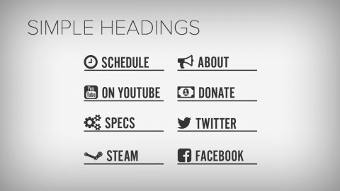 Simple headings for Twitch - Twitch Overlay