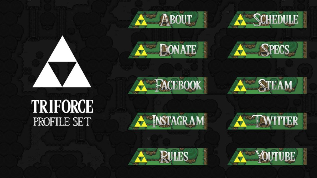 Triforce Profile Headings (Zelda style)