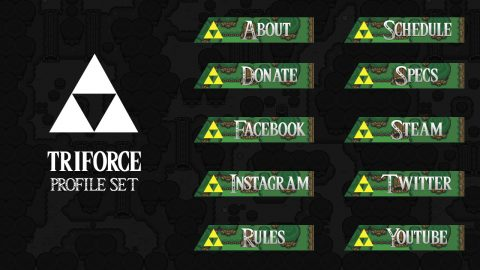 Triforce profile headings - Twitch Overlay