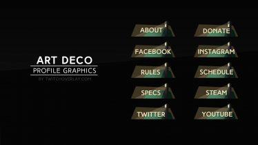 Art deco profile graphics - Twitch Overlay