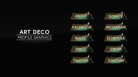Art deco profile graphics - Twitch Overlay