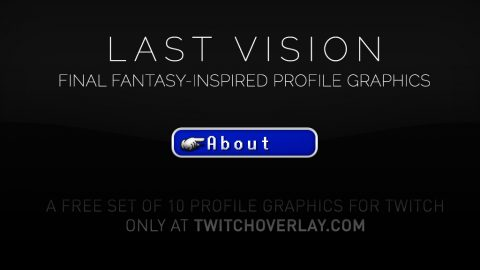 Final Fantasy profile graphics - Twitch Overlay