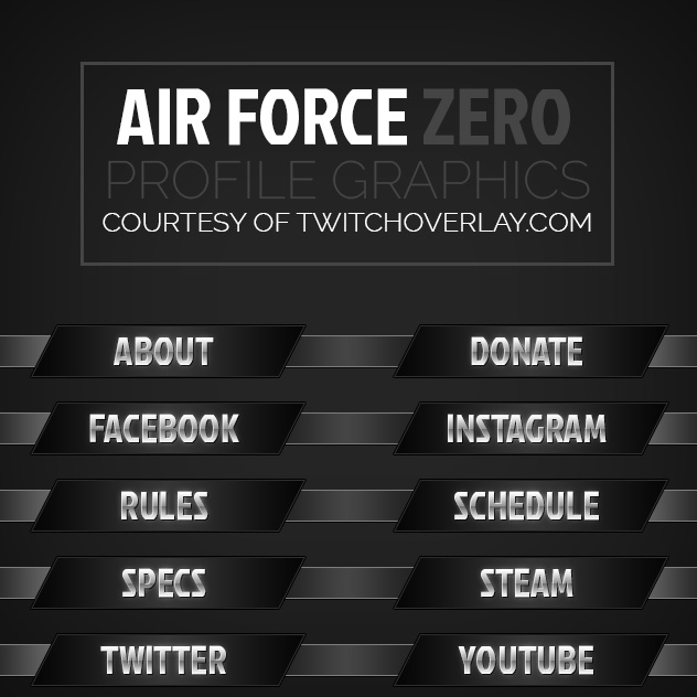 Air Force Zero – Steel Profile Graphics