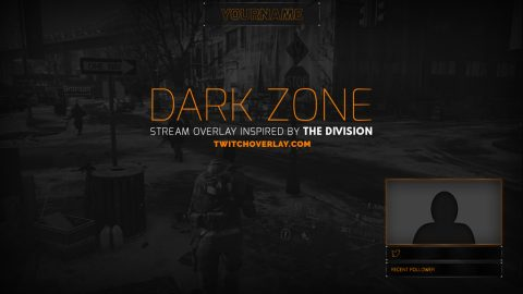 Free Orange & Grey Twitch Overlay