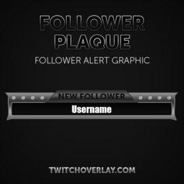 follower alert graphic - Twitch Overlay