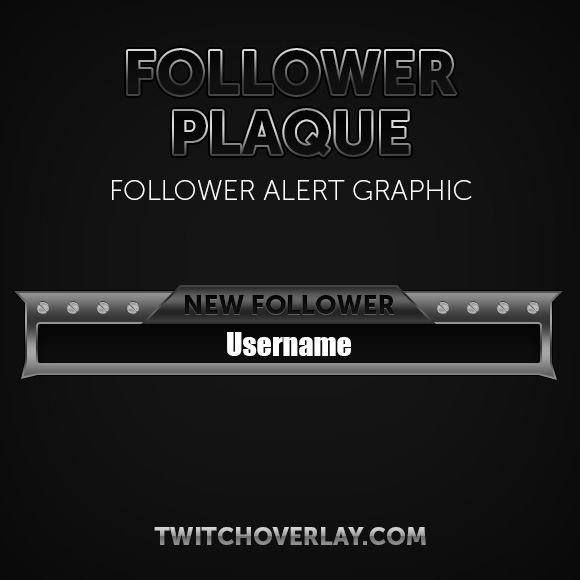 follower alert graphic - Twitch Overlay