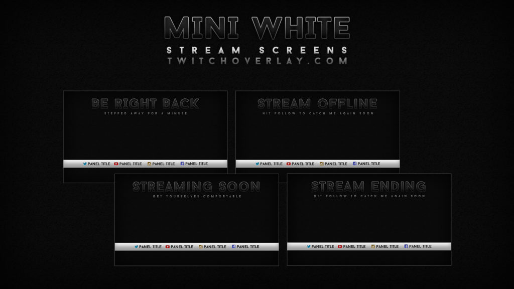 Mini White – Black & White Stream Screens