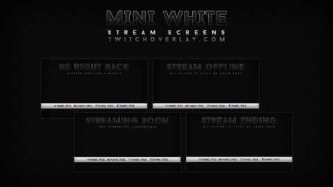 black & white stream screens - Twitch Overlay