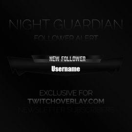 Dark Follower Alert Graphic - Twitch Overlay