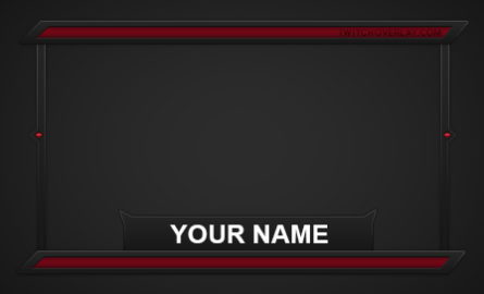 red cam overlay - Twitch Overlay
