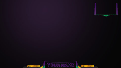purple stream overlay - Twitch Overlay