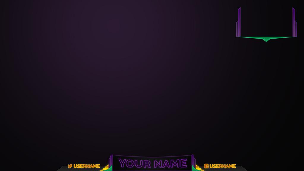 purple stream overlay - Twitch Overlay