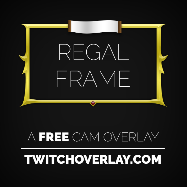 Picture Frame Cam Overlay - Twitch Overlay