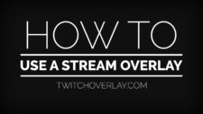 how to use a stream overlay