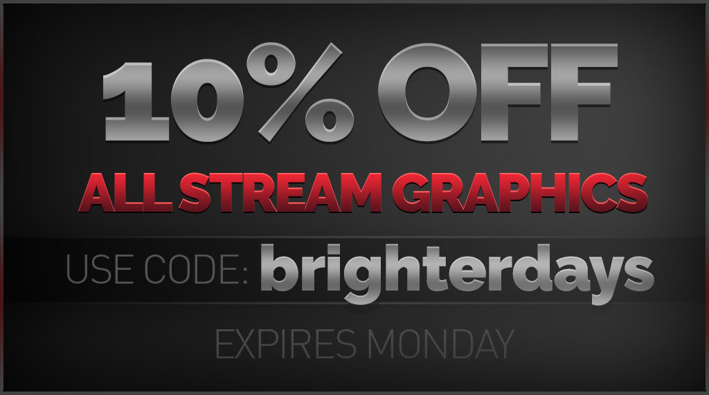 10% off Stream Graphics - Twitch Overlay