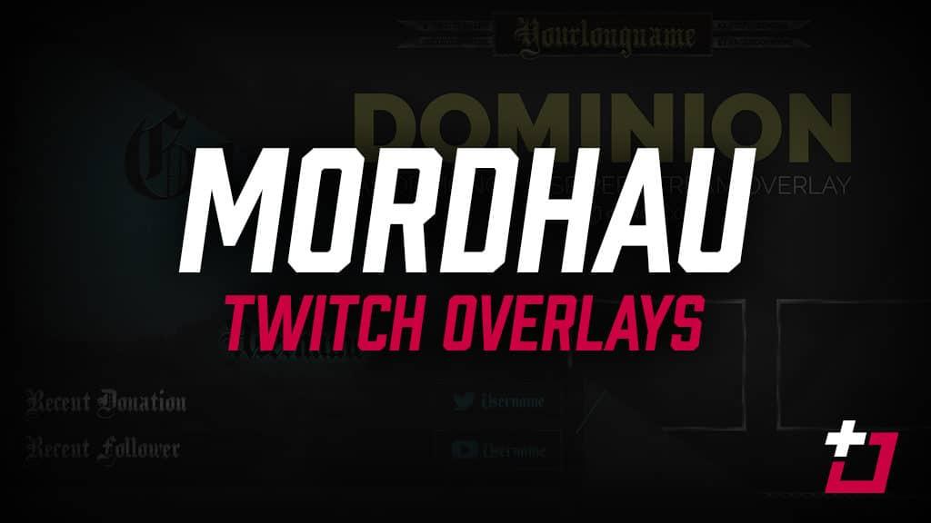 free mordhau twitch overlays