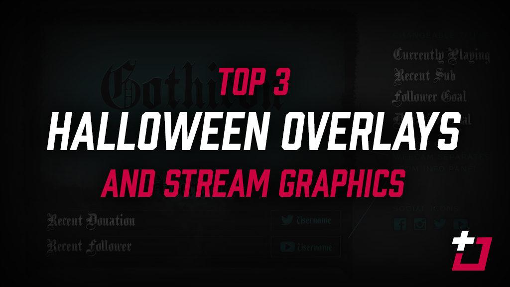 halloween twitch overlays