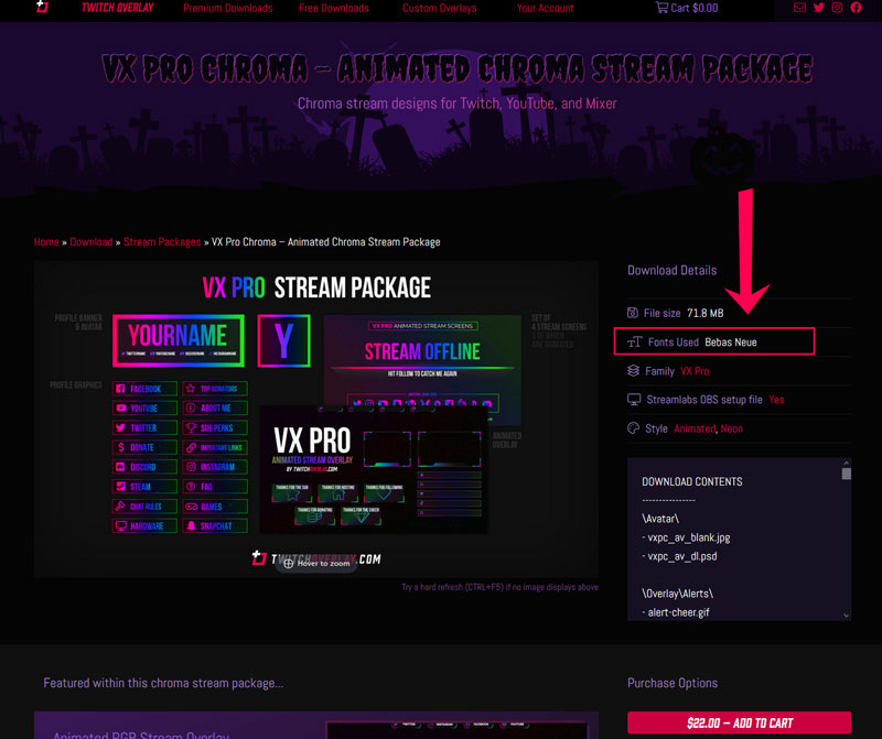 how to edit vx pro twitch banner