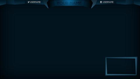 blue stream overlay - Twitch Overlay
