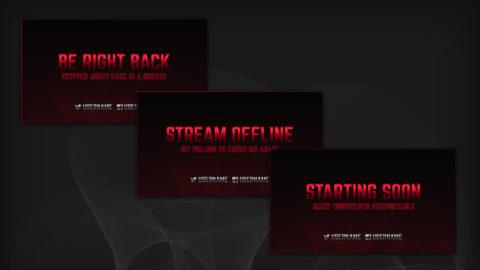 Red Stream Screens - Twitch Overlay