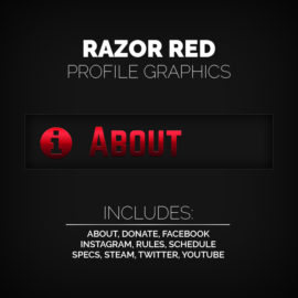 red profile graphics - Twitch Overlay