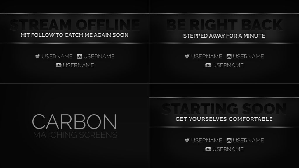 Carbon – Dark Stream Screens