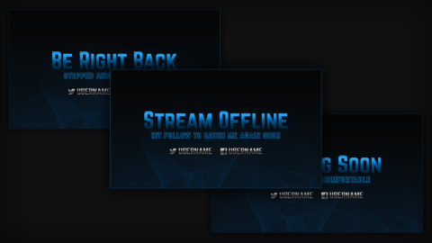 blue stream screens - Twitch Overlay
