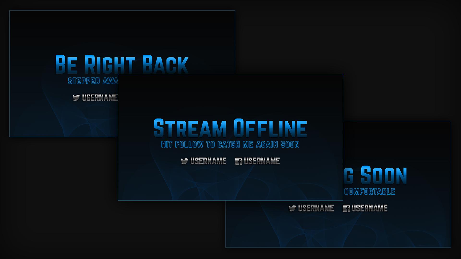 blue stream screens - Twitch Overlay