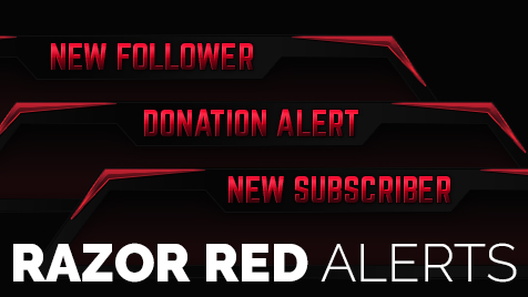 Razor Red Follower/Donation/Sub Alerts