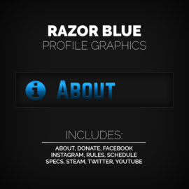 blue profile graphics - Twitch Overlay