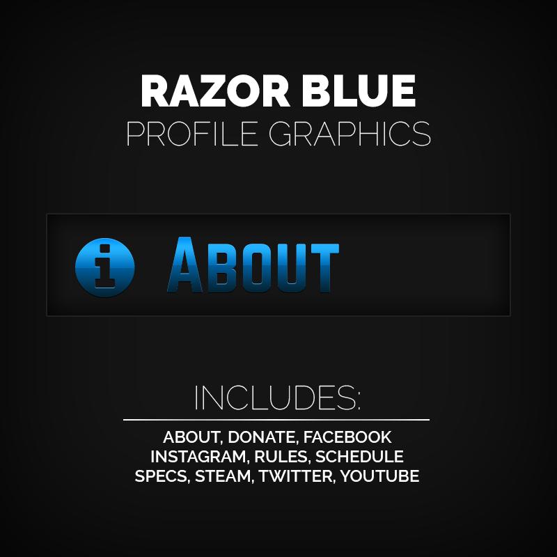 Razor Blue – Blue Profile Graphics