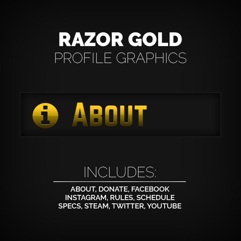 Razor Gold – Gold Profile Graphics