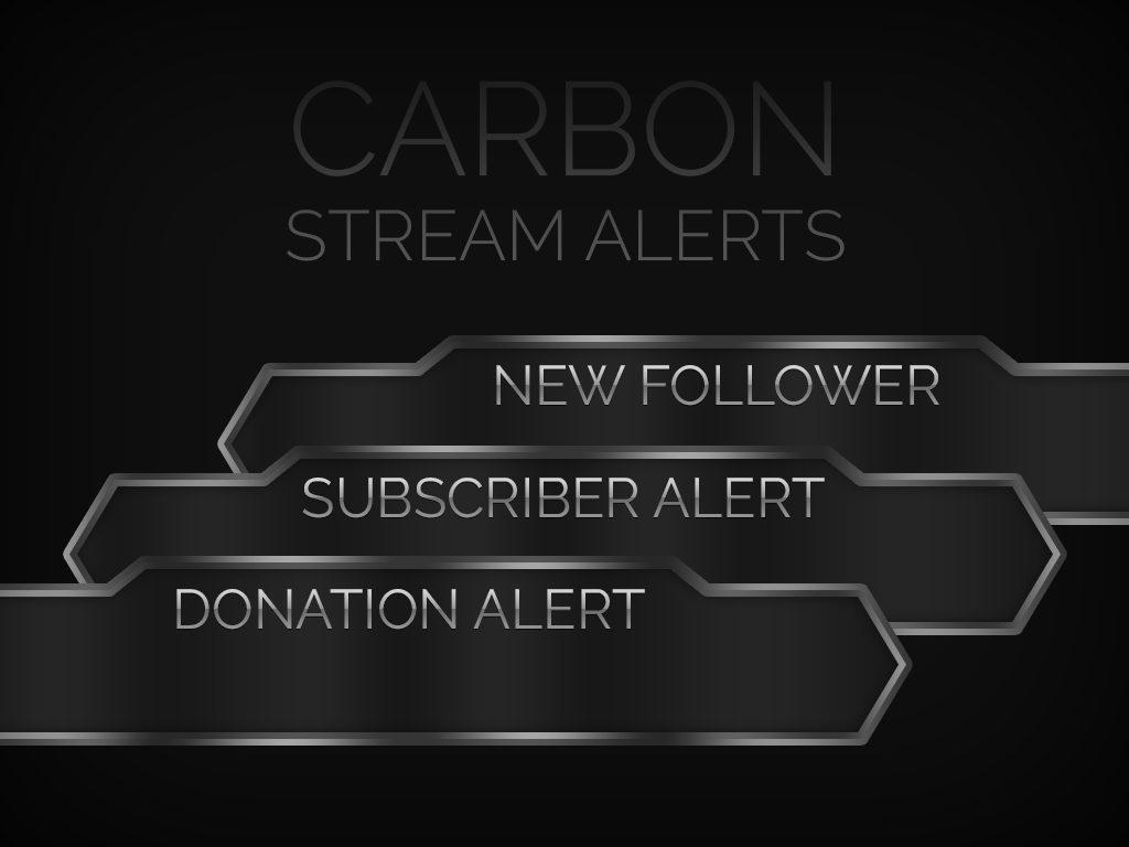 Carbon Follower/Donation/Sub Alerts