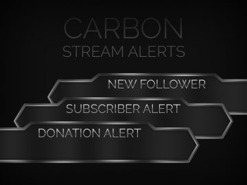 Carbon Follower/Donation/Sub Alerts - Twitch Overlay