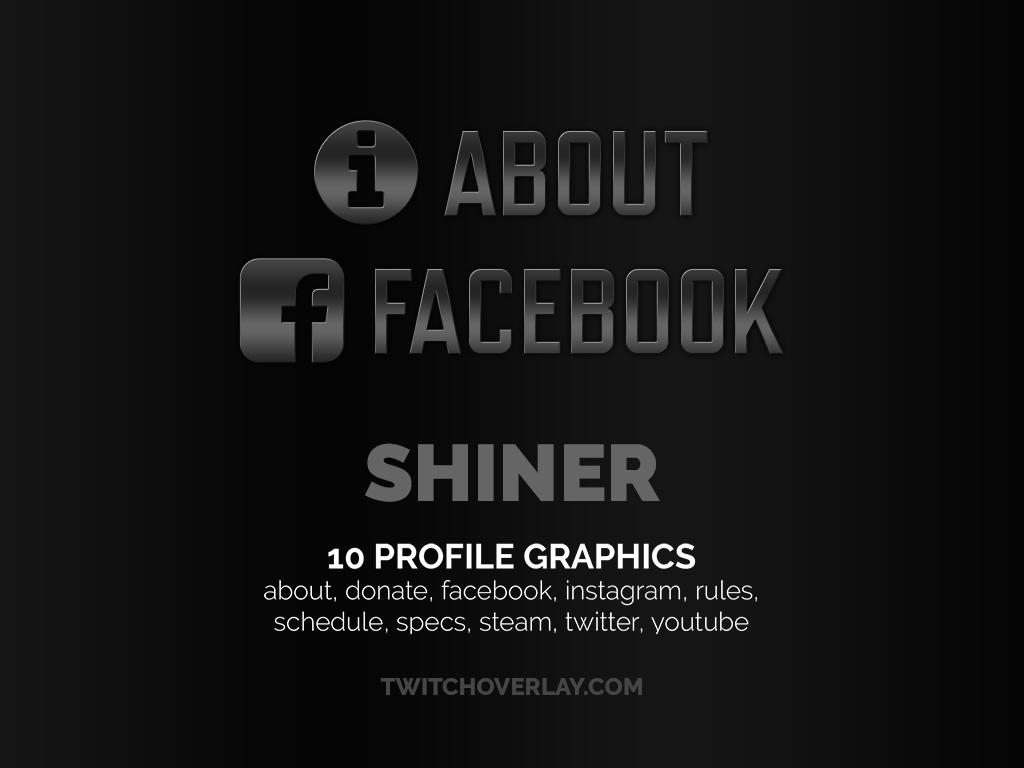 metallic profile graphics - Twitch Overlay