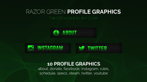 green profile graphics - Twitch Overlay