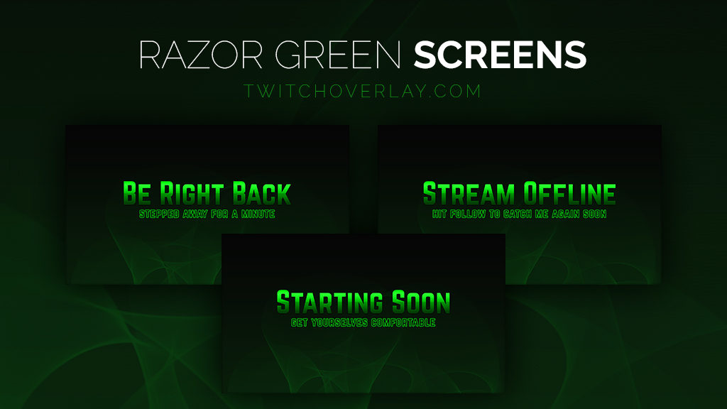Razor Green Stream Screens