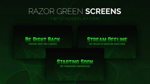 green stream screens - Twitch Overlay