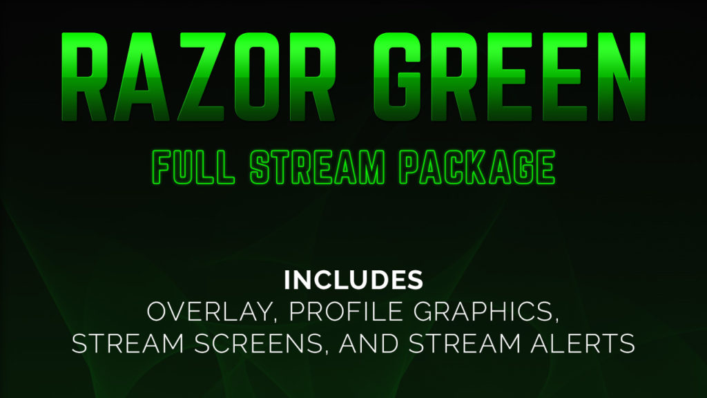 green stream - Twitch Overlay