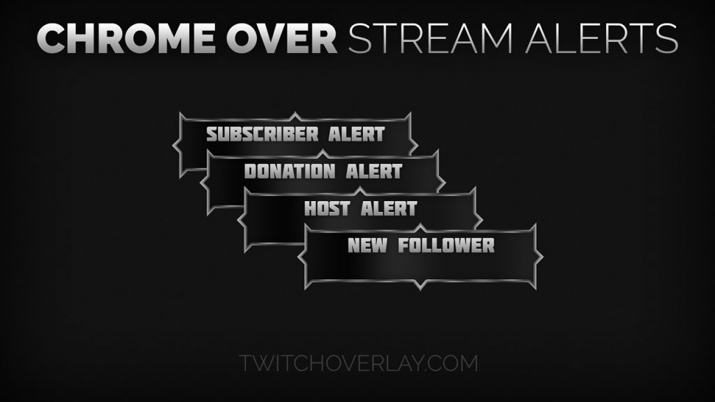 metallic stream alerts - Twitch Overlay