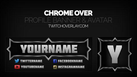 metallic twitch banner avatar - Twitch Overlay