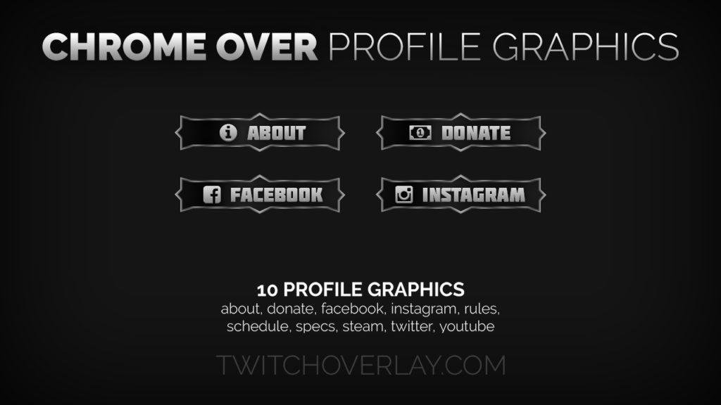 Chrome Over Profile Graphics