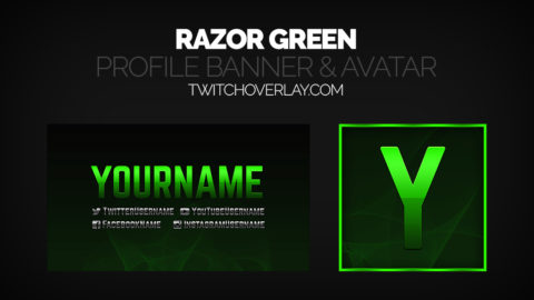 Green Stream Profile Banner Avatar - Twitch Overlay