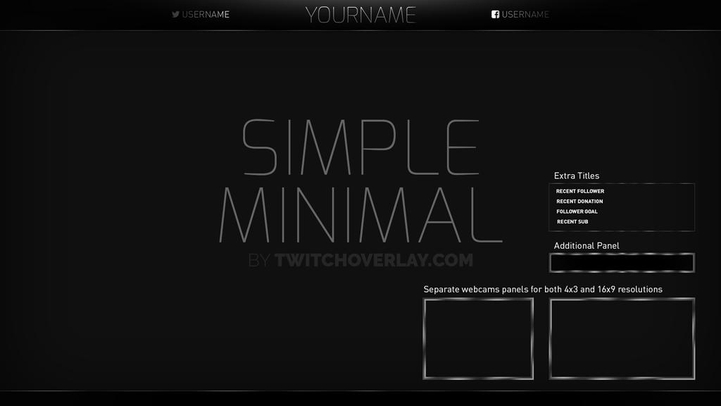 Simple Minimal Overlay - Twitch Overlay