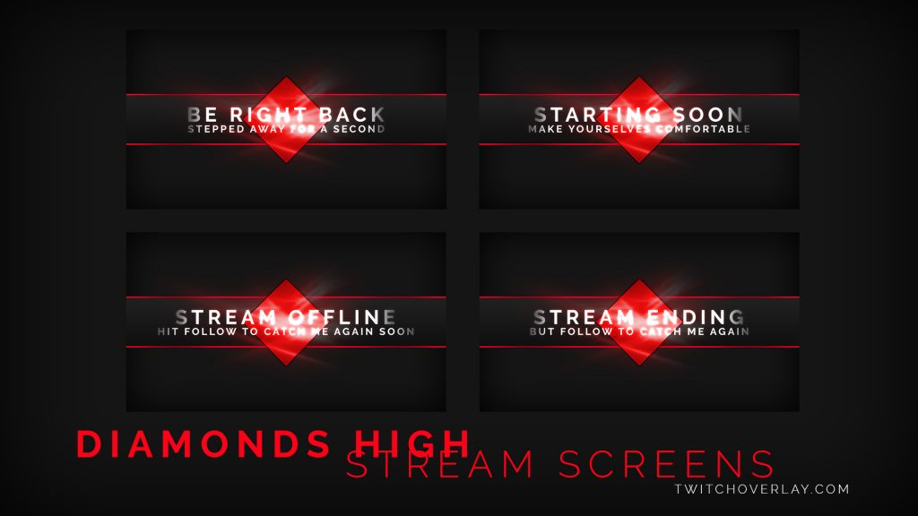 Diamond Stream Screens - Twitch Overlay