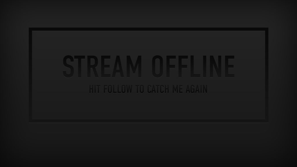 Dark Stream Screens - Twitch Overlay