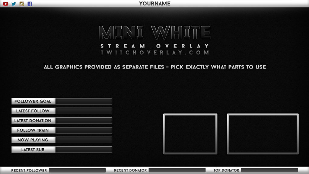 Mini White – White Stream Overlay