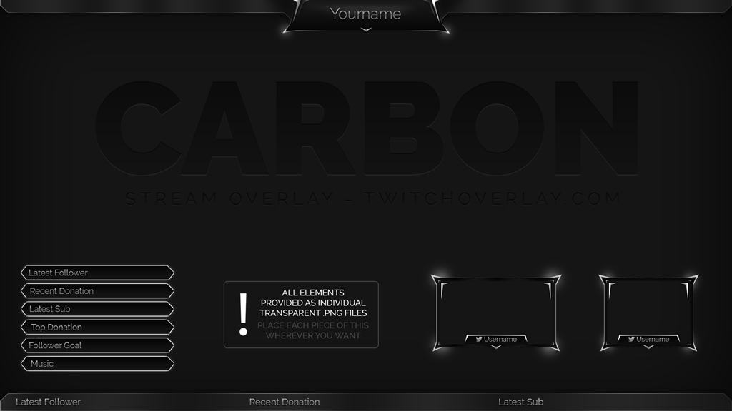 Carbon – Grey Stream Overlay