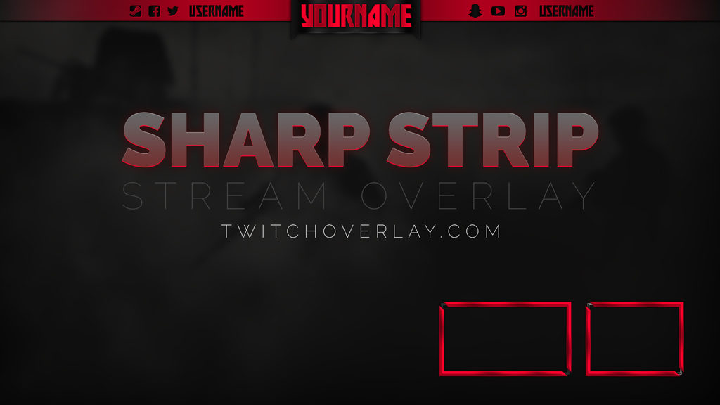 Sharp Strip – Red – Starter Stream Overlay