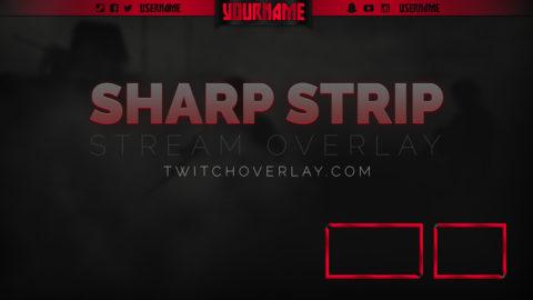 Sharp Strip Red Starter Stream Overlay